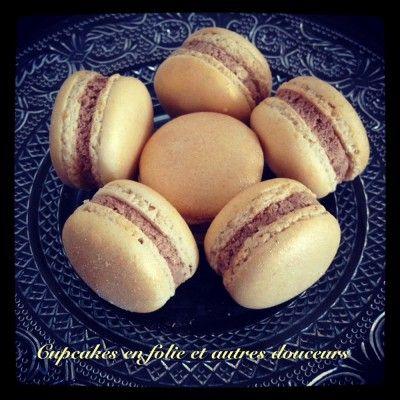 Macarons choco-nougat