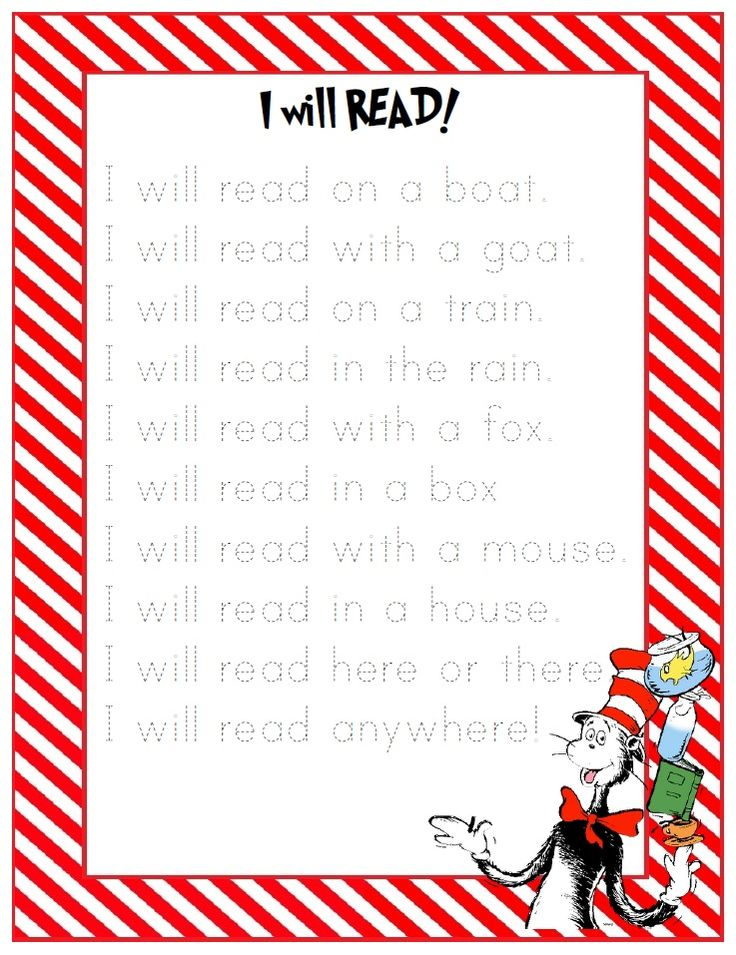 free dr. suess printables | Seuss-Inspired Shared Reading Printables | Preschool Printables