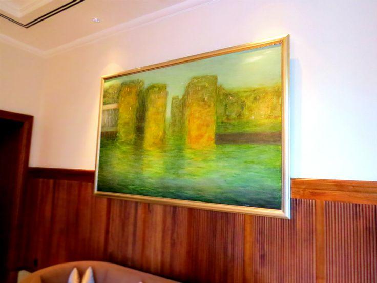 Róbert Csáki's enthralling masterpiece definitely catches the eyes in the Lobby of Four Seasons Hotel Gresham Palace Budapest.