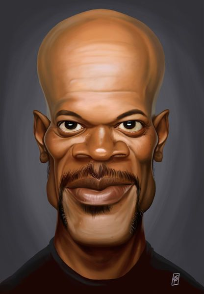 'Celebrity Sunday - Samuel L Jackson' by rob-art on artflakes.com as poster or art print $14.38 art | decor | wall art | inspiration | caricatures | home decor | idea | humor | gifts