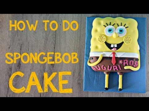 Spongebob cake tutorial, video