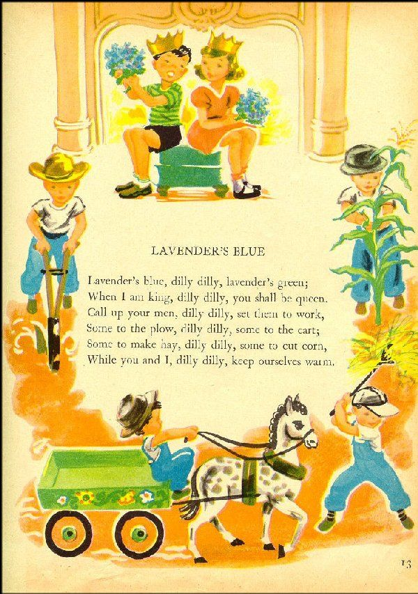 Quot Lavender Blue Quot An Old Nursery Rhyme Classic Nursery