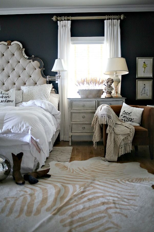 This Layering Trend Is Going to Take Over Living Rooms In 2017. Navy  Bedroom DecorNavy Bedroom WallsGlam ...
