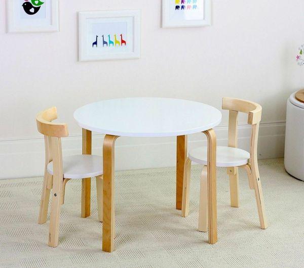 Awesome kinderzimmer tisch wei rund st hle holz design wandbilder