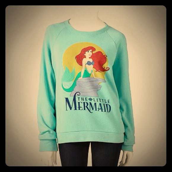 Disney Ariel Little Mermaid Sweater Sweatshirt NEW$35... I WANT THIS!!!! Actually, I NEED THIS!!!