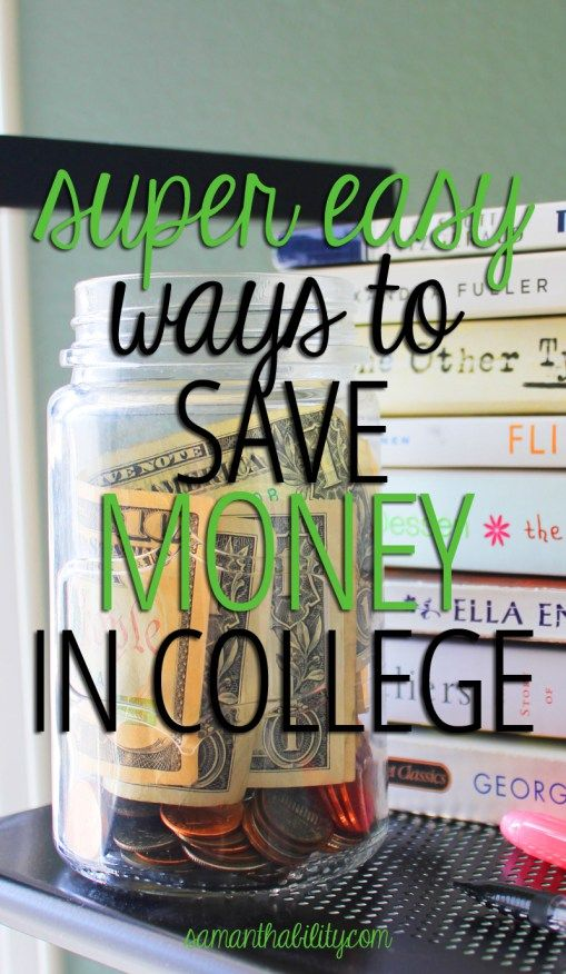 Easy ways to save money in college! These smart ideas will make college more affordable! Save money as a college student!