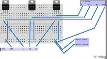 [DE, EN][Alle Modelle] Raspberry Pi mit einem RGB LED- oder WS2812 Strip verbinden