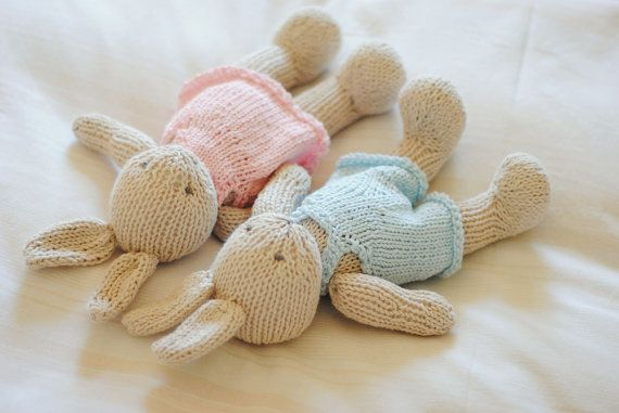 Hand Knitted Bunny Knitted Toy Stuffed Animal First