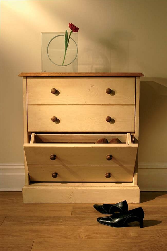 details about devon painted pine furniture small shoe rack storage cabinet
