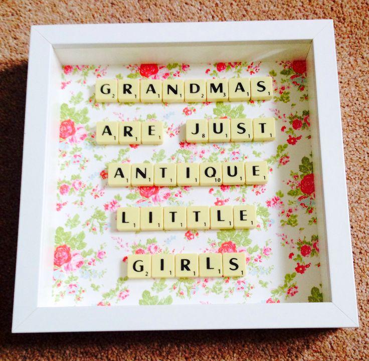 Grandma scrabble art contact scrabblecreations@gmail.com