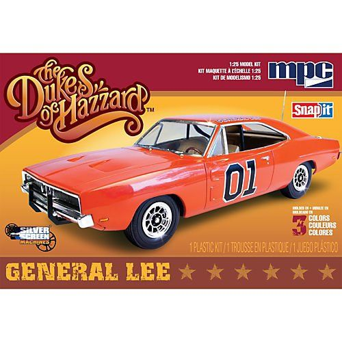 1/25 Dukes of Hazard General Lee 69 Dodge Charger Multi-Colored, Multicolor