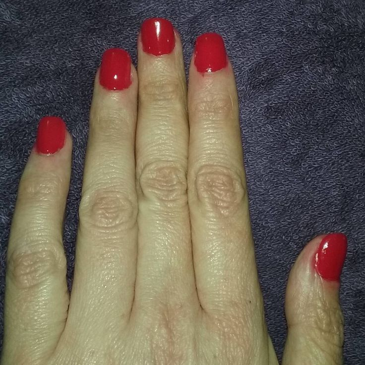 Not perfect, but not bad for my first set of pink acrylic nails with natural tips. CND Vinylux in Rouge Red. One coat of polish.