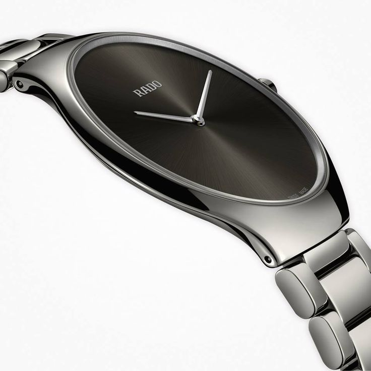 Rado True Thinline in black high-tech ceramic. 2016 introduction. R27741182 #rado #watches #HeinrichsJewellery - black dial watches for mens, mens designer watches sale, mens watches sales