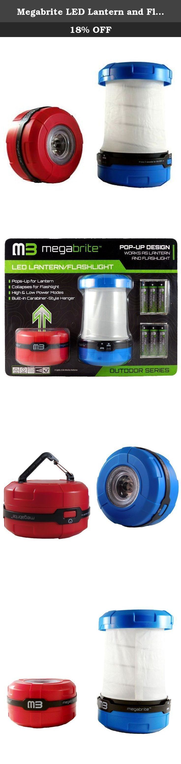 Megabrite LED Lantern and Flashlight with batteries (4 pack). The Megabrite LED Lantern and Flashlight is the ideal all in one portable lighting solution. With two functions, a bright 72 lumen LED light, and a host of other features, this light will be ideal for the great outdoors. The Megabrite LED Lantern and Flashlight will also be ideal for household applications like storm readiness. The light comes with batteries, so you will not have to go searching for batteries when you need them...