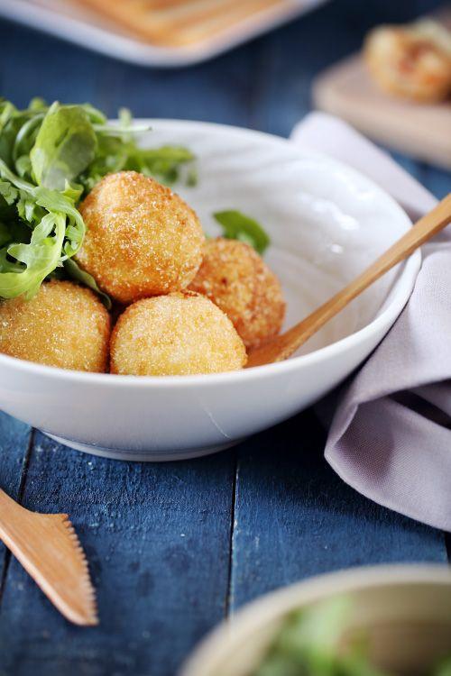 Cromesquis de pomme de terre à la raclette