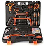 Tool Kit, LESHP Precision Tools 82 Piece DIY Home Household Tool Set with Combination Pliers and Hammer in Box Case - Great Gifts for Ladies