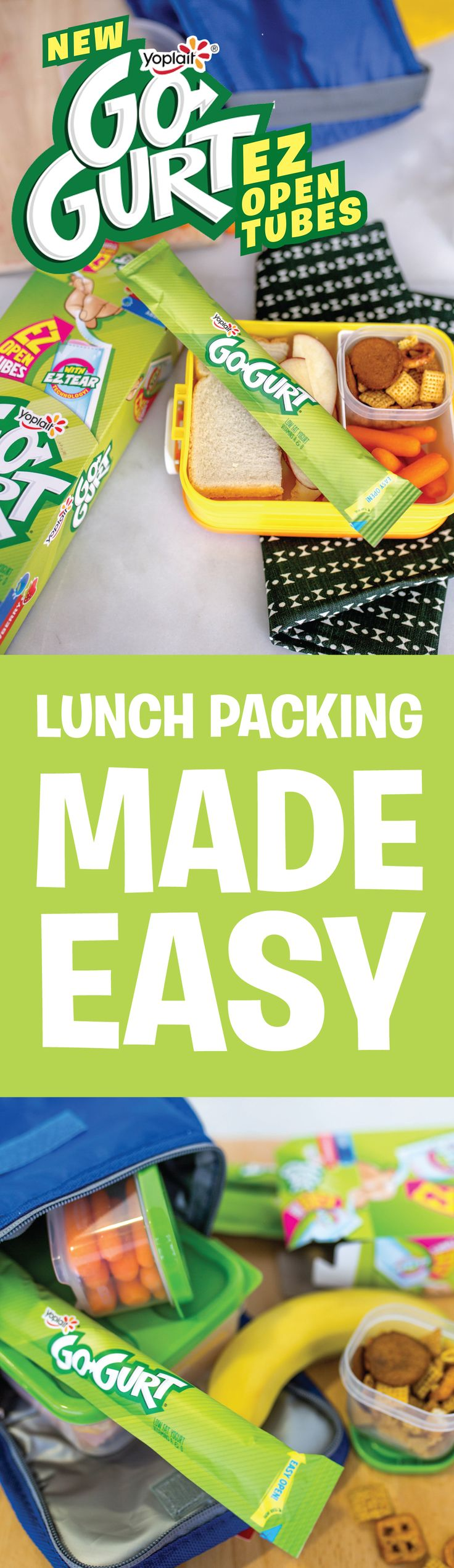 Go-GURT EZ Open Tubes = instant lunch box staple