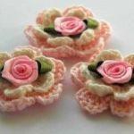 Flores crochet para detalles