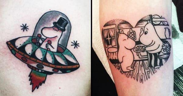 <3 12 Charming Moomin Tattoos https://www.tattoodo.com/a/2016/02/12-charming-moomin-tattoos/