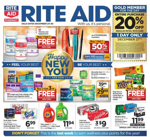 Rite Aid Weekly Ad Dec 24-30, 2017 https://www.weeklyadspecials.com/rite-aid-weekly-ad-dec-24-30-2017/