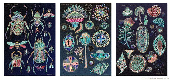 Underwater treasure collection- Hannah Davies illustration