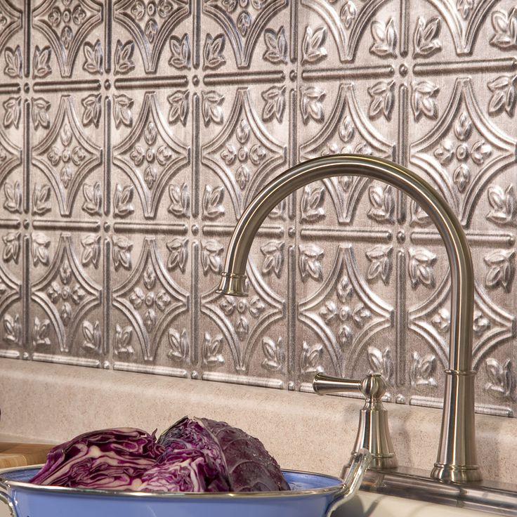 Fasade Traditional Style 10 Brushed Aluminum 18 In X 24: 17 Best Ideas About Backsplash Panels On Pinterest