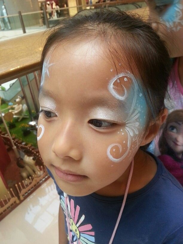 15 best images about frozen winter party on pinterest for Frozen face paint