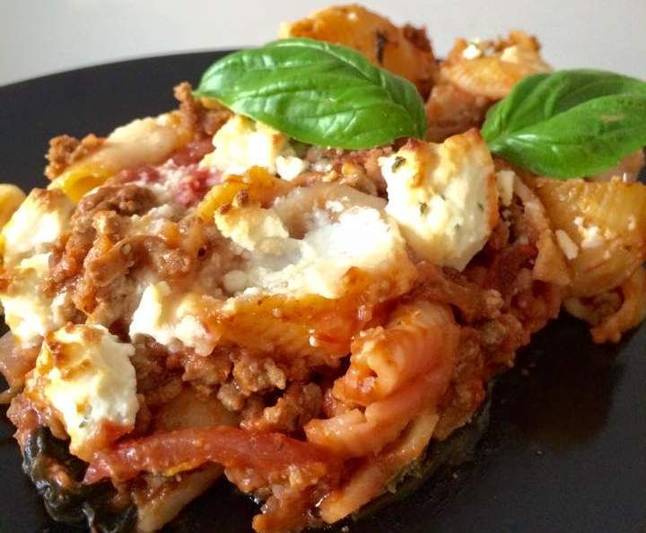 Recipe CHEESY BEEF PASTA BAKE by Aussie TM5 Thermomixer - Recipe of category Pasta & rice dishes