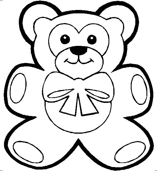coloring sheets big cute bares | Teddy-bear-Coloring-Pages-05