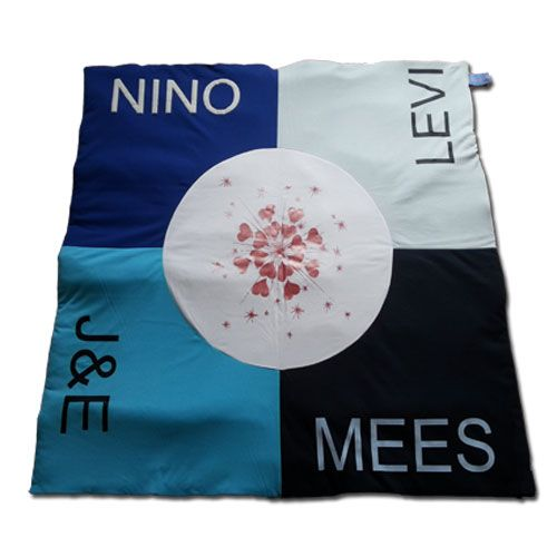 Speelkleed Nino, Levi, J&E, Mees | Playing quilt family