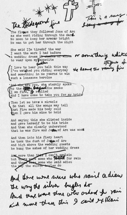 epilepsyblues: Lyrics of Joan of Arc by Leonard Cohen - Leonard Cohen - Zimbio