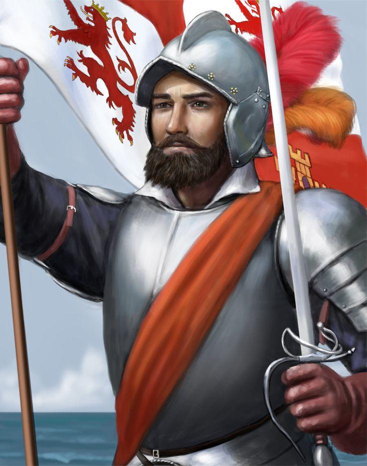 Vasco Núñez de Balboa, descubridor del Pacífico (entre otras muchas cosas). Cortesía de Dashinvaine. http://www.elgrancapitan.org/foro/viewtopic.php?f=21&t=16835&p=923863#p923675