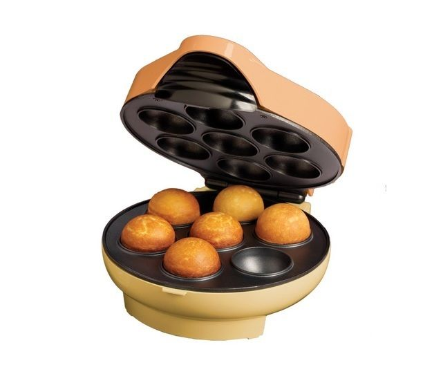 """Cake Pop & Donut Hole Maker Kitchen Bakery Baking Doughnut Cook Cooking Candy This Cake Pop & Donut Hole Maker is the perfect way to cook delicious donut holes at home. Make jelly donuts, puff pancakes, mini cinnamon buns & much more Includes a handy injector for jellies and creams Motor: Seventy-Five (75) watts Dimensions: 7.74"""" long x 9.74"""" wide x 4.24"""" high **Item color displayed in photos may be showing slightly different on your computer monitor since monitors are not calibrated…"""