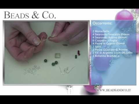 """Tutorial per la creazione Orecchini in Argento, pietre di Primite e pietre di Quarzo. Visita la il nostro sito http://www.beadsandco.it alla sezione """"Idee Kit"""" e scopri quanto è semplice fare un vero gioiello """"fai da te"""". Lezione 20"""