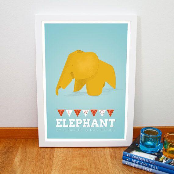 Retro Charles & Ray Eames plywood elephant par fromparistohelsinki, €14,00