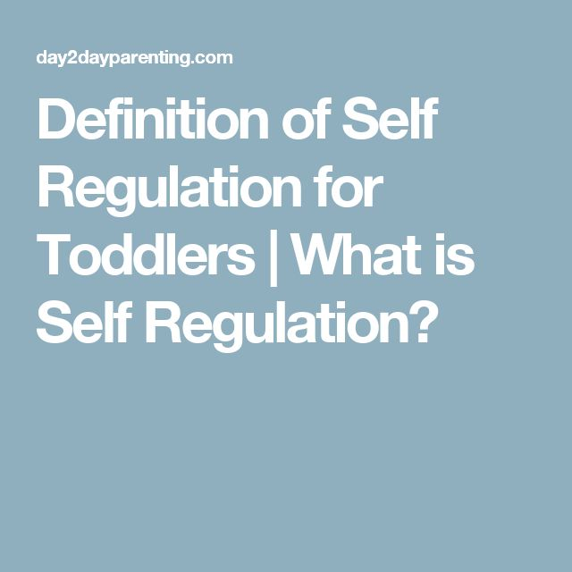 Definition of Self Regulation for Toddlers | What is Self Regulation?