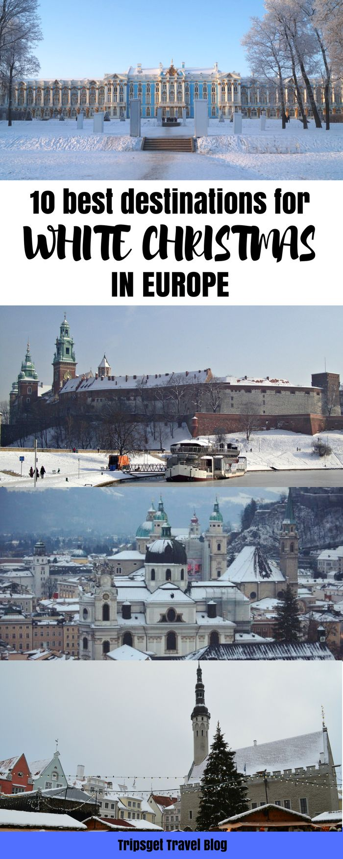 10 destinations in Europe for white Christmas. Where to go for Christmas in Europe. Moscow, Tallinn, St. Petersburg, Lapland, Stockholm, Riga