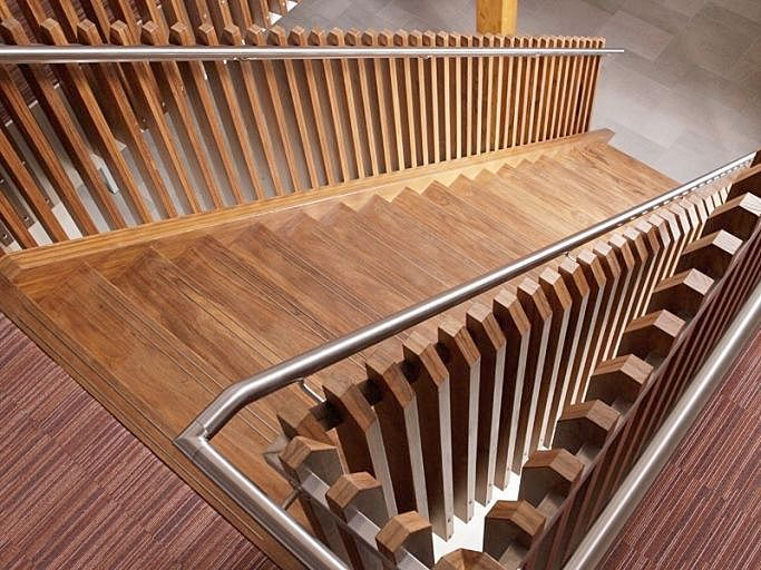 When entering the office of Foreco your eye will immediately catch the stairs in the central hall of the building. Many visitors think the stairs are made of teak, but they're not. This characteris...