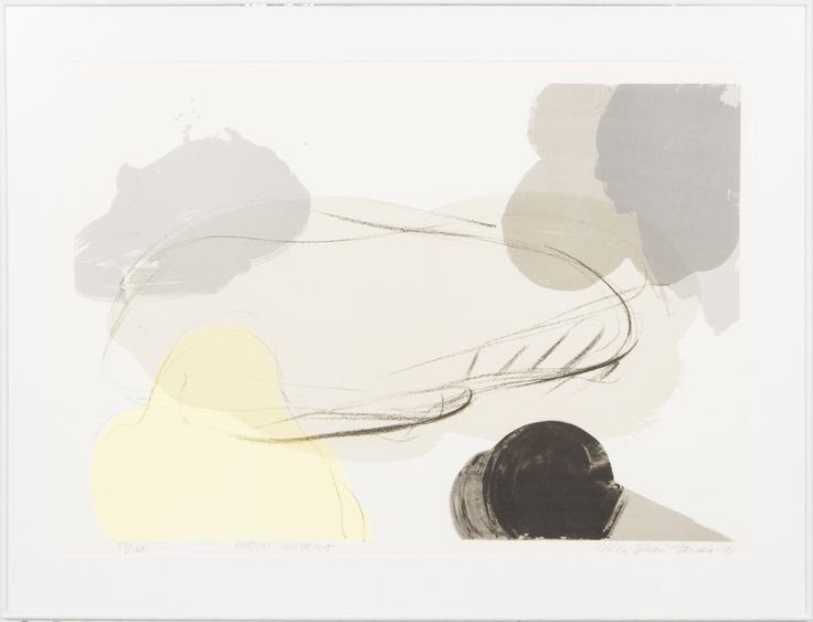 Ulla Rantanen: Avoin maisema, 1991, litografia, 54x79 cm, edition 59/100 - Hagelstam 5/2016