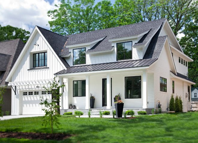 833 best home exterior paint color images on pinterest for Farmhouse exterior paint colors