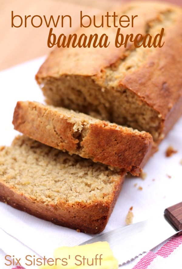 Brown Butter Banana Bread Recipe - Six Sisters Stuff, I use my conversation chart to make a half white rice and half brown rice all purpose flour, I also add an extra 1/2 teaspoons baking powder. Its yummy