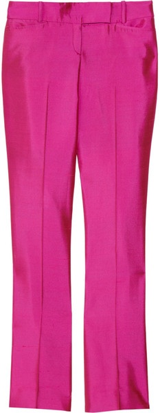Wool and Silkblend Twill Flared Pants - Lyst