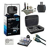 #10: GoPro HERO 5 Black  64 GB Micro SD  Card Reader  6 ft HDMI Cable  Memory Card Wallet  Cleaning Kit  Camera Case (7 items) - Shop for digital SLRs (http://amzn.to/2bZ3ZZk) mirrorless cameras (http://amzn.to/2bsCDJs) lenses (http://amzn.to/2bZ35fr) drones (http://amzn.to/2bRmtgx) security cameras (http://amzn.to/2bsBiCG)