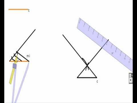 Construcción de un triángulo isosceles a partir de un lado y la mediana de los lados iguales. - YouTube