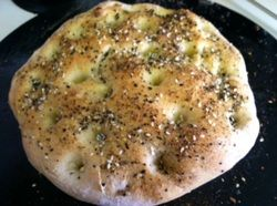 Your Inspiration at Home Dukkah Dusted Focaccia. #YIAH #bread