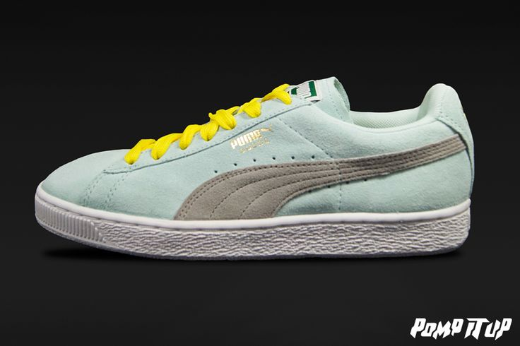 Puma Suede Classic (Fair aqua-drizzle) For Women Sizes: from 36 to 41 EUR Price: CHF 90.- #Puma #SuedeClassic #PumaSuedeClassic #Sneakers #SneakersAddict #PompItUp #PompItUpShop #PompItUpCommunity #Switzerland