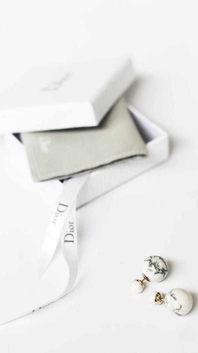 Marble Dior earrings