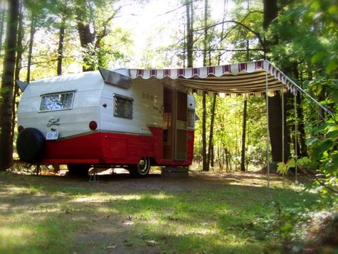 Red Camper #woods #summer #camping