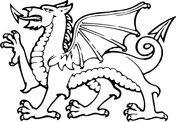 simple welsh dragon template   google search celticish
