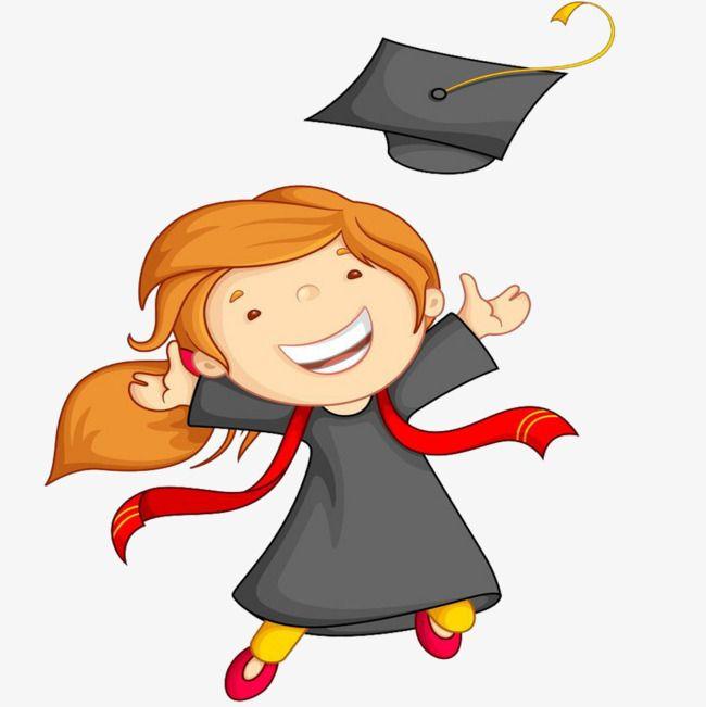 يبتسم التخرج بسعادة طفل يضحك طفل يضحك كارتون اطفال يضحكون Png وملف Psd للتحميل مجانا Graduation Cartoon Graduation Girl Cartoon Clip Art